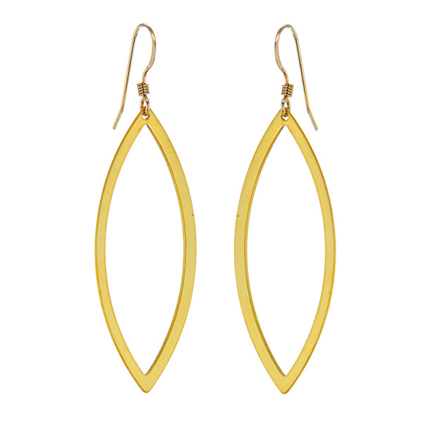 Cat's Eye Hoops in Gold Plated Sterling Silver