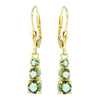 Cosmos 14K Gold Moldovite Earrings