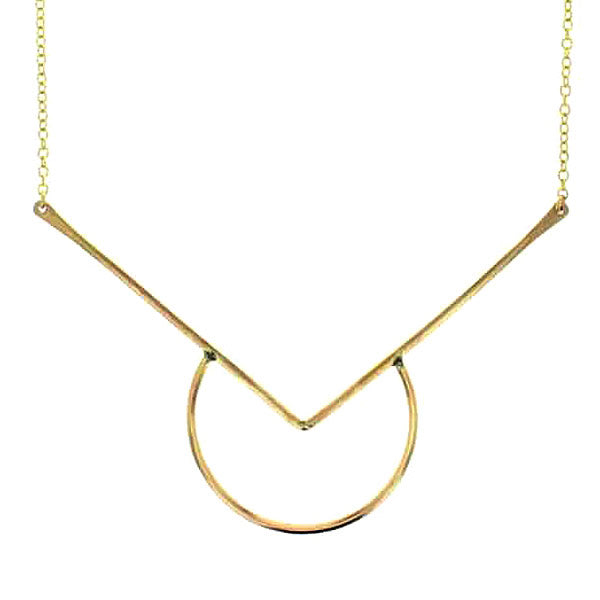 Moonrise Necklace in 14 Karat Gold Vermail