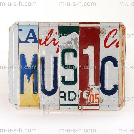 License Plate Signs MUSIC