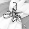 Octopus Napkin Ring from Sterling Silver Pewter