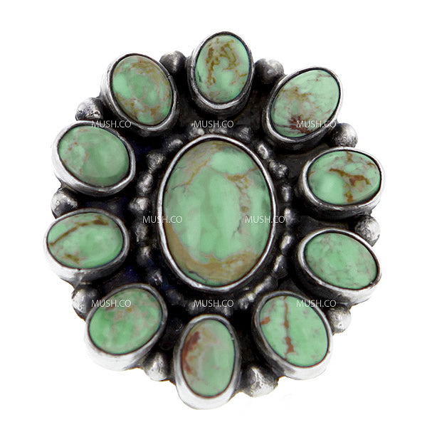 Beautiful Navajo Turquoise Sterling Silver Ring in Size 7