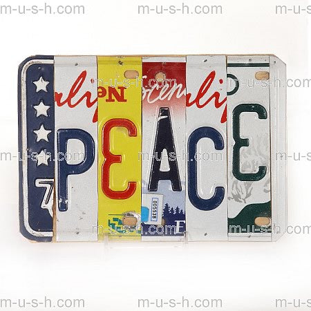 License Plate Signs PEACE