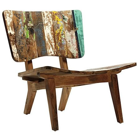Picasso Low Chair in Reclaimed Boat Wood and Teak