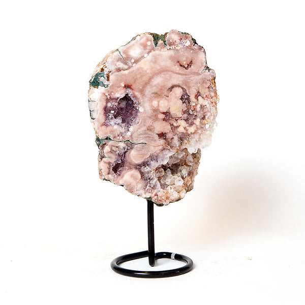 Pink Amethyst Slab Sculpture on Stand v3