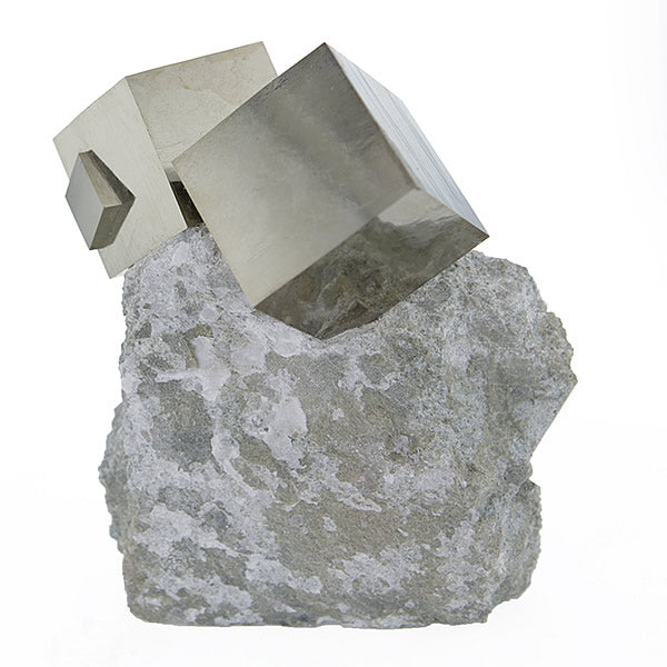 One of a Kind Pyrite in Limestone Sculpture from Navajún La Rioja Spain -v1 Hollywood