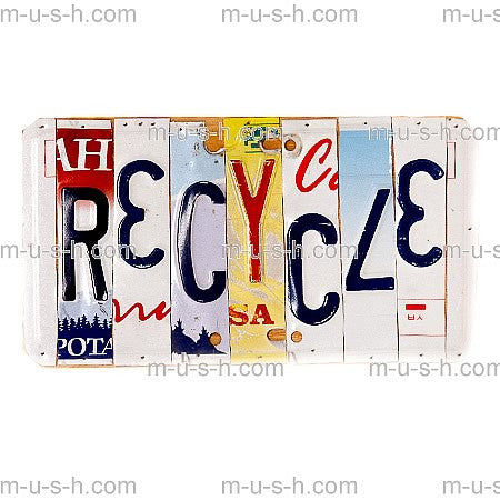 License Plate Signs RECYCLE Hollywood