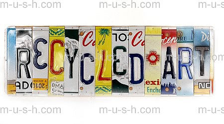 License Plate Signs RECYCLED ART Hollywood