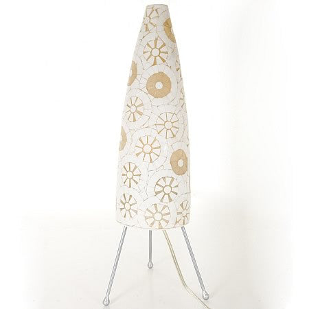 New Dream Table Resin Lamp 250 in White And Natural Mosaic Tiles
