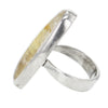 Oval Shaped Gold Rutile Quartz Ring Set in Sterling Silver Size 5