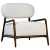 Donny Scandinavian Occasinal Chair with White Linen Upholstery