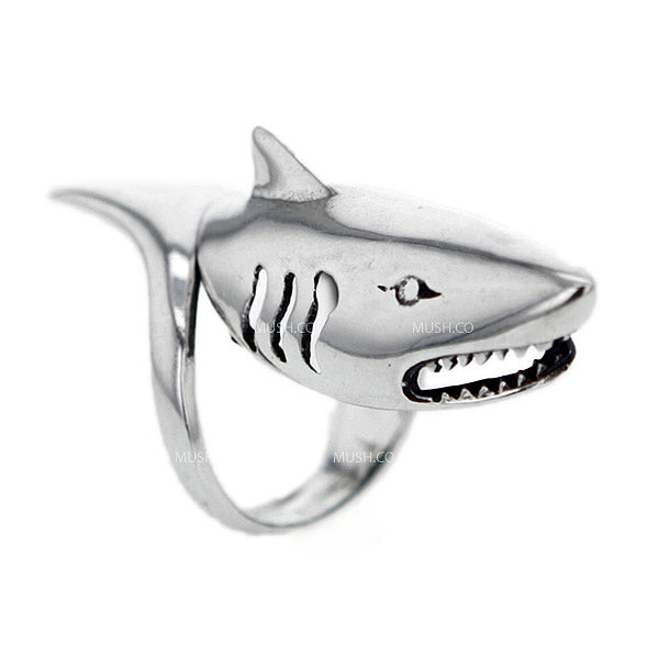 Shark Sterling Silver Ring
