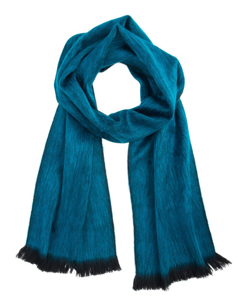 Midnight Turquoise Ultra Soft Hypoallergenic Scarf made from Baby Alpaca Wool