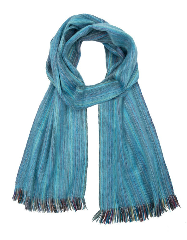 Peacock Ultra Soft Hypoallergenic Scarf made from Baby Alpaca Wool Hollywood