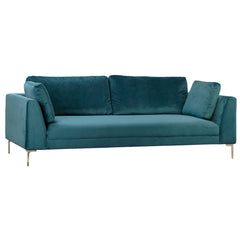 Silverlake Velvet Upholstery Sofa with Nickel Finished Legs