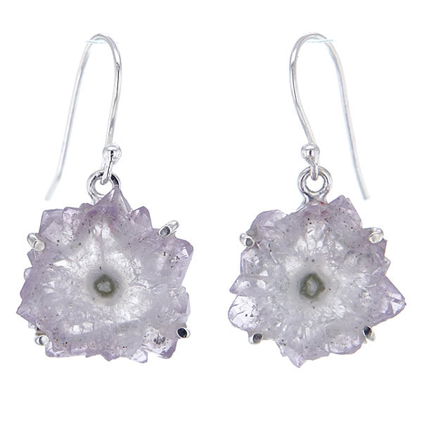 Stalactite Amethyst and Sterling Silver Earrings in Purple v1