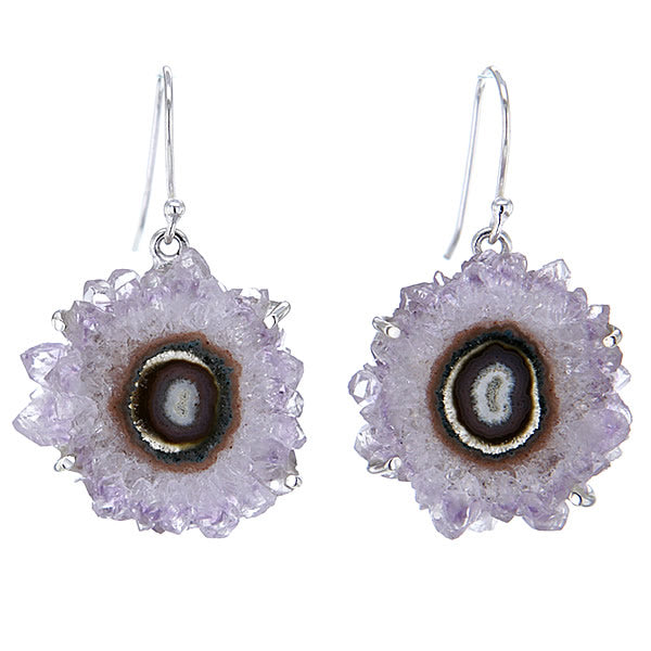 Stalactite Amethyst and Sterling Silver Earrings in Purple v4