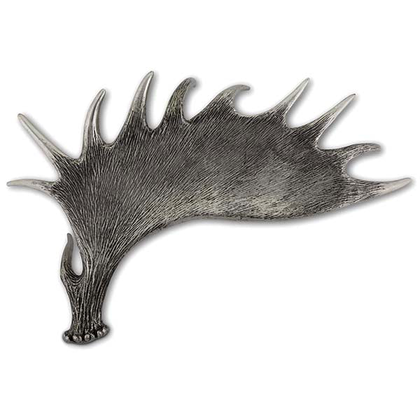 De Luxe Sterling Silver Pewter Moose Antler Tray