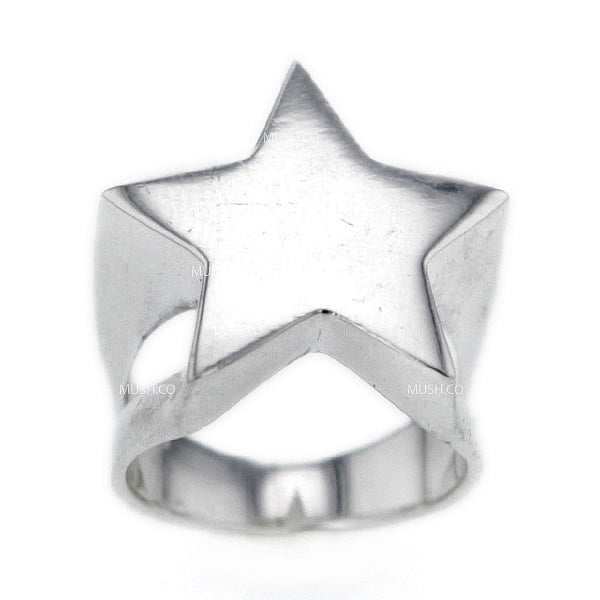 Hollywood Star Sterling Silver Ring in Size 8.5