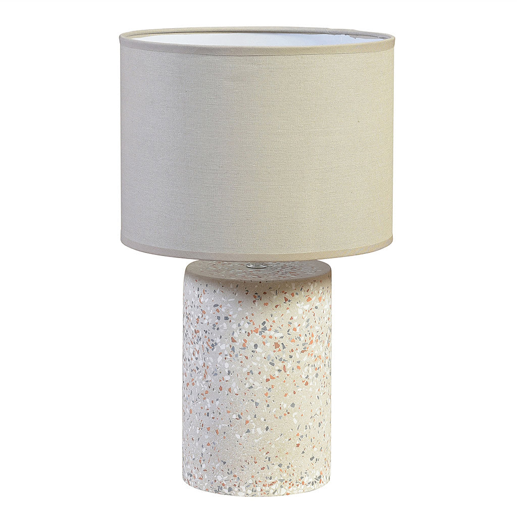 Terrazzo Table Lamp in Light Grey Mosaic Texture Hollywood