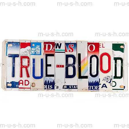License Plate Signs TRUE BLOOD