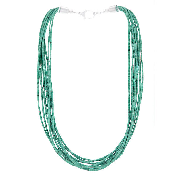 Stunning Navajo Turquoise Waterfall Necklace
