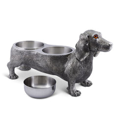 Luxury Life Size Dog Feeding Bowl from Sterling Silver Pewter