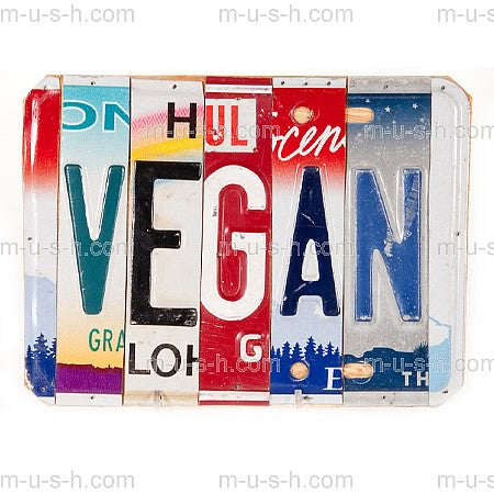 License Plate Signs VEGAN Hollywood