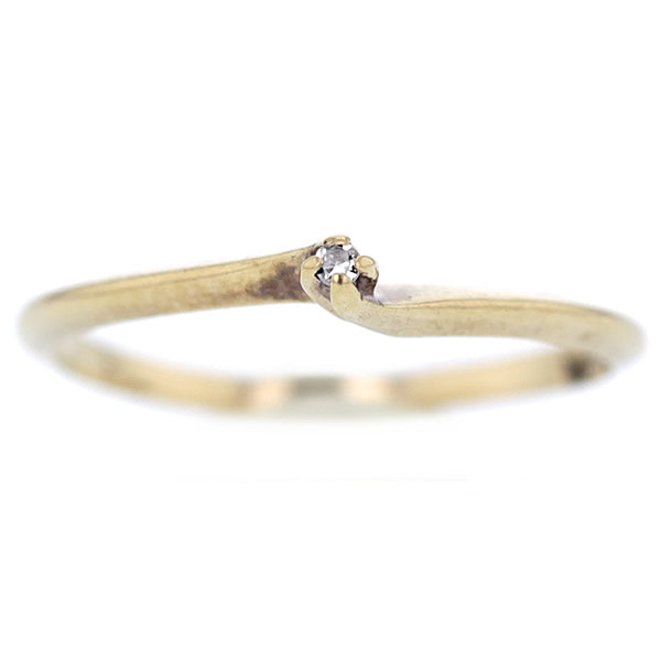 10 K Gold Diamond Engagement Ring in Size 6.5