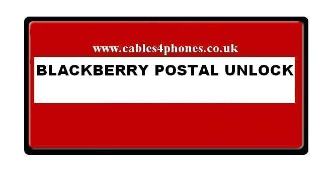 Blackberry Postal Unlocking / Flashing / Debrand / Service