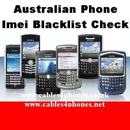 Blacklisted Imei Check For Australia Network Operators
