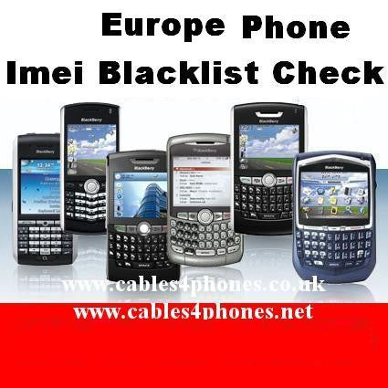 Blacklisted iPhone/iPad/All Brand Phones Europe Check
