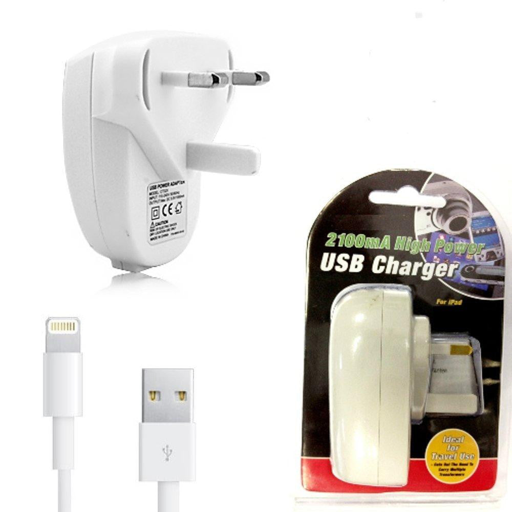 iPhone 5/5C/5S / 6 / 6S / 7 Plus / iPad Air / Pro Wall Charger & Cable