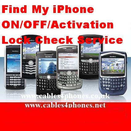 Find My iPhone ON/OFF/Activation Lock Check by Imei