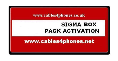 Sigma Unlock Box Pack 1 Activation