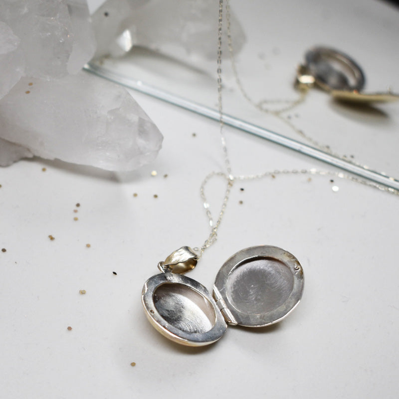 Hailey Jane silver locket and chain.