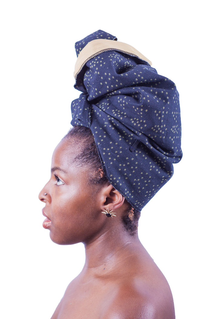 sativa leaf silk-lined head wrap ruby sampson