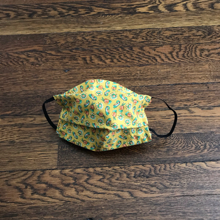 Face Mask. 100% Cotton, Washable and Reusable. Bakes and Saltfish Print