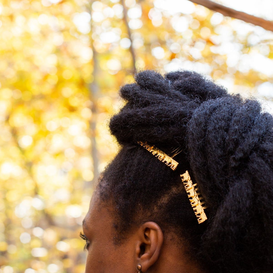 Hair accessory ideas for natural hair