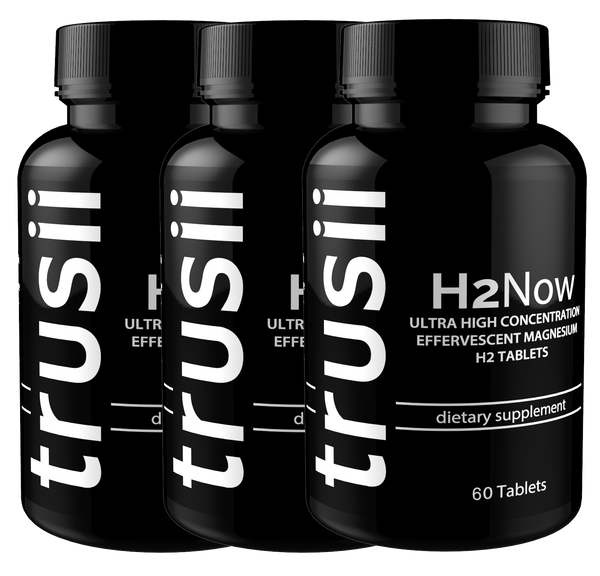 trusii H2Now Molecular Hydrogen Tablets 3 bottle