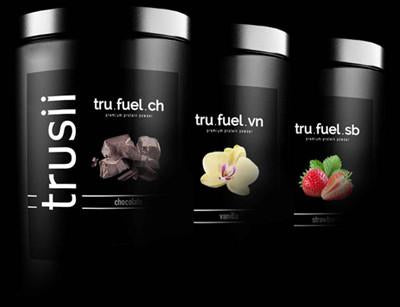 trusii tru.fuel plant based protein flavors