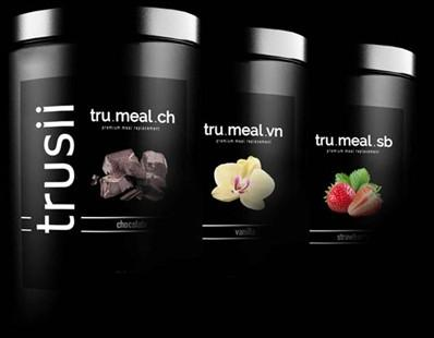 trusii tru.meal plant based protein meal replacement flavors