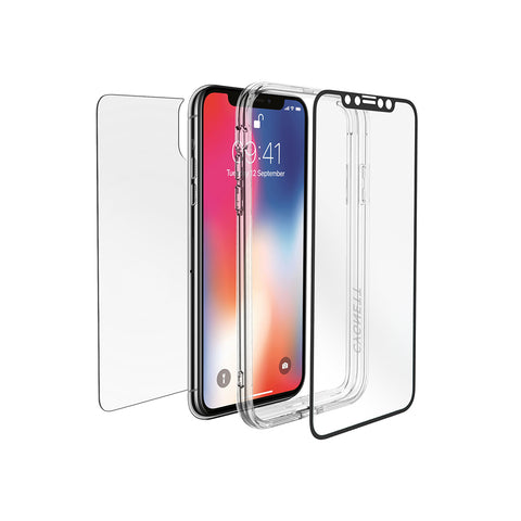 iPhone XS & X Front/Back Glass Protection & Bumper Frame - Cygnett (AU)