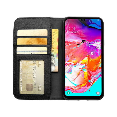 Wallet Case for Samsung Galaxy A70 - Black - Cygnett (AU)