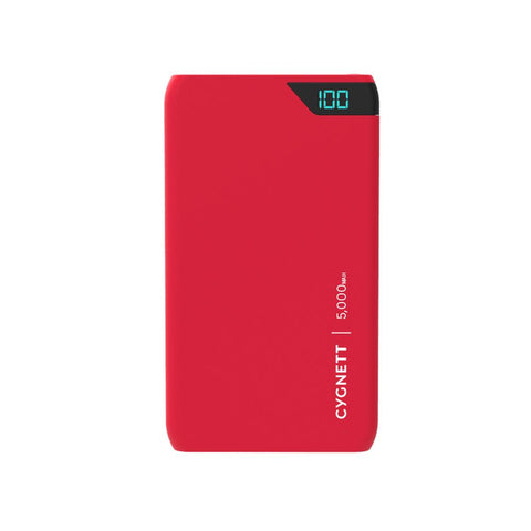 5,000mAh Power Bank - Red - Cygnett (AU)