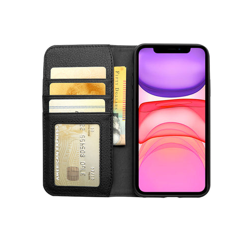 iPhone 12 & 12 Pro Leather Wallet Case  - Black - Cygnett (AU)