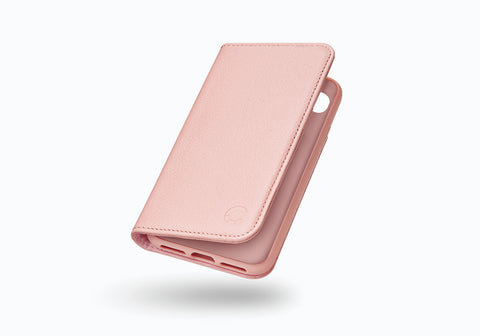iPhone 8 Plus & 7 Plus Leather Wallet Case in Pink