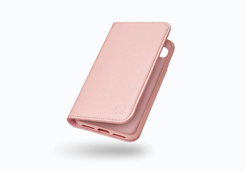 iPhone 8 & 7 Leather Wallet Case in Pink