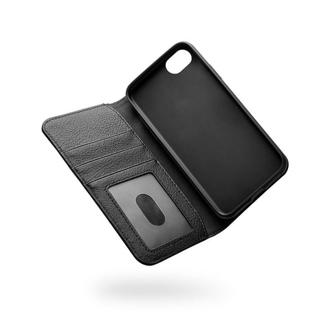 iPhone SE (2020), 8 & 7 Leather Wallet Case in Black - Cygnett (AU)