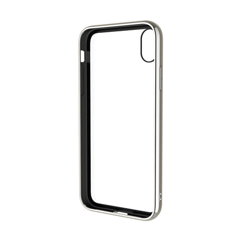 iPhone Xs Max Tempered Glass Case in Silver - Cygnett (AU)